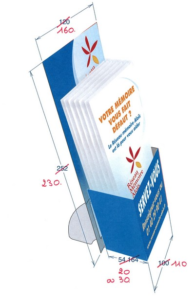 présentoir plv : distributeur de flyers en carton